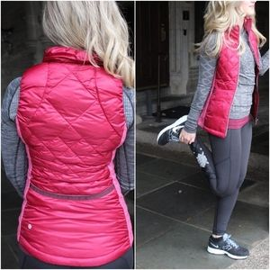 Lululemon Down For Run Vest 2 Bumble Berry